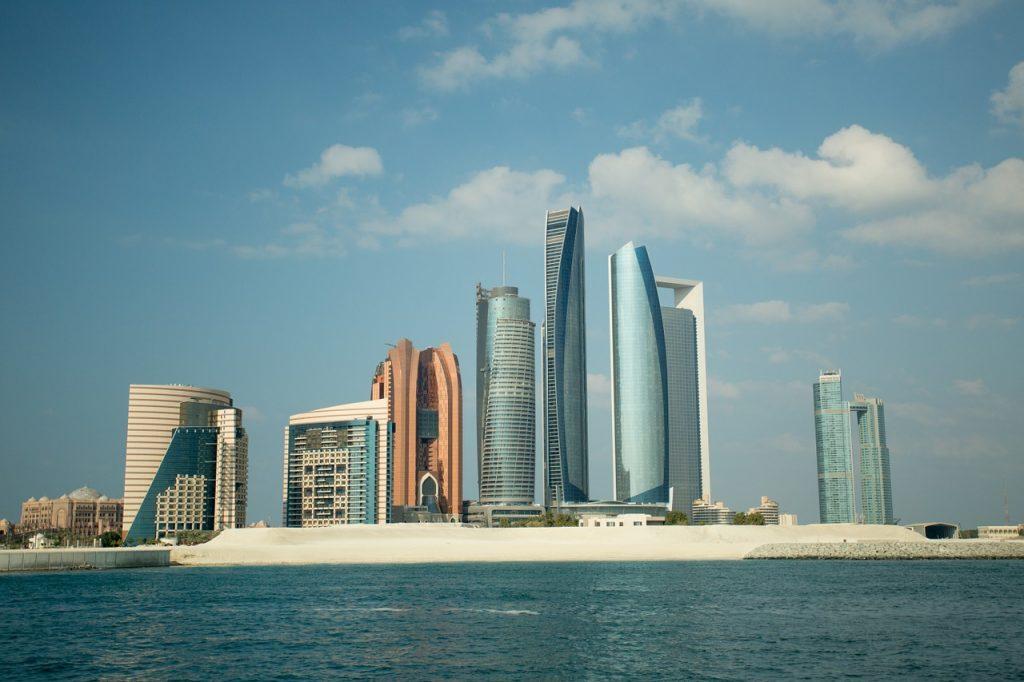 Abu Dhabi skyline in the UAE